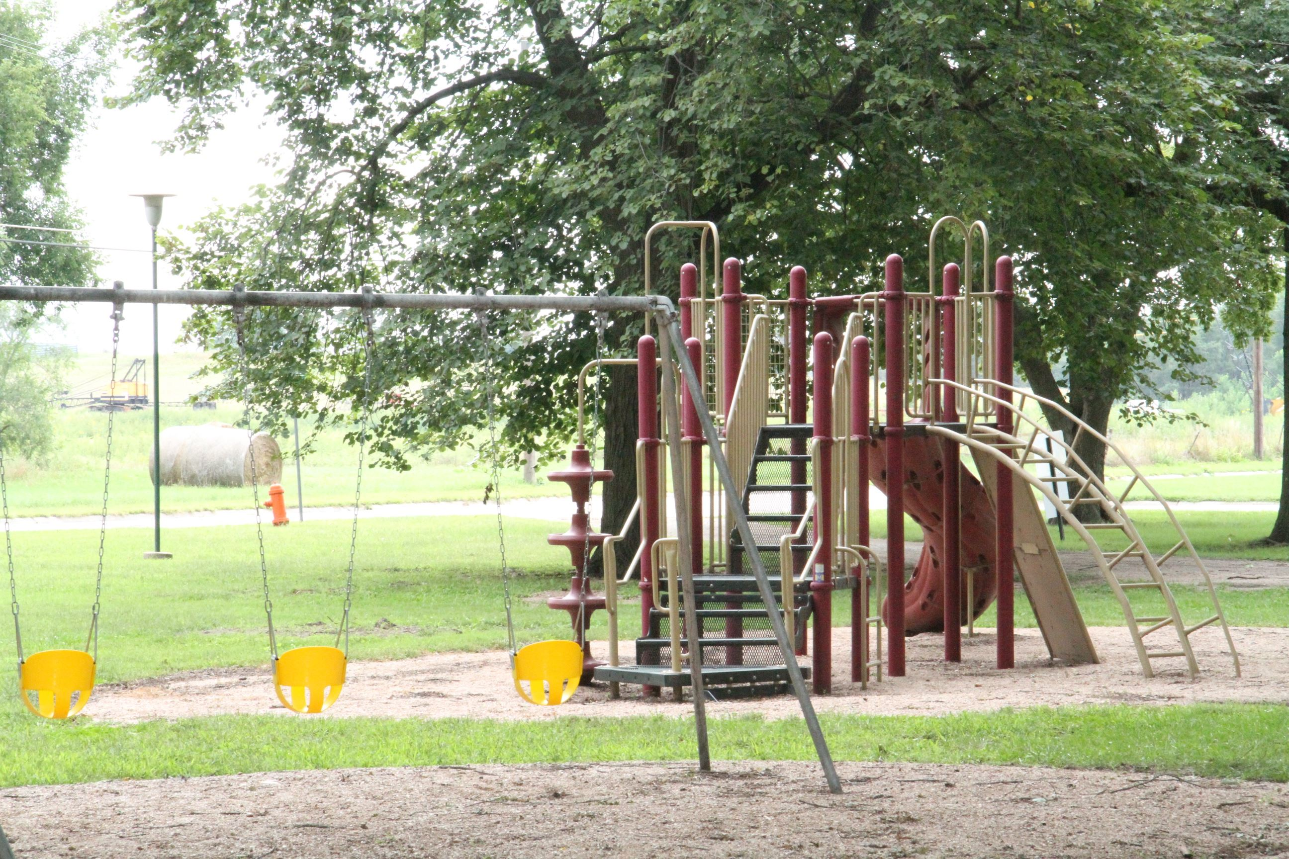 Playground with Swings in Willard Park