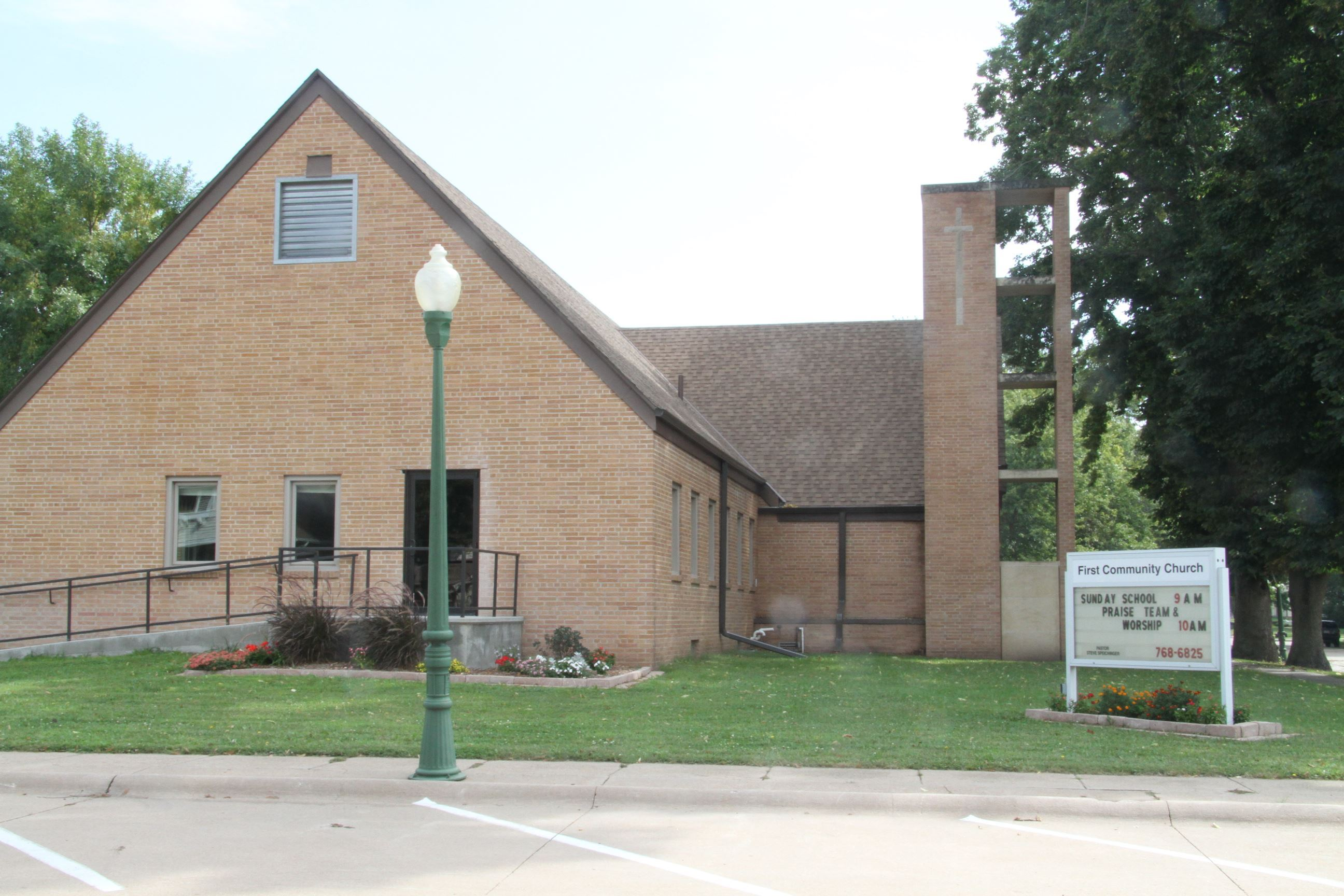 The front of the First Community Church Building