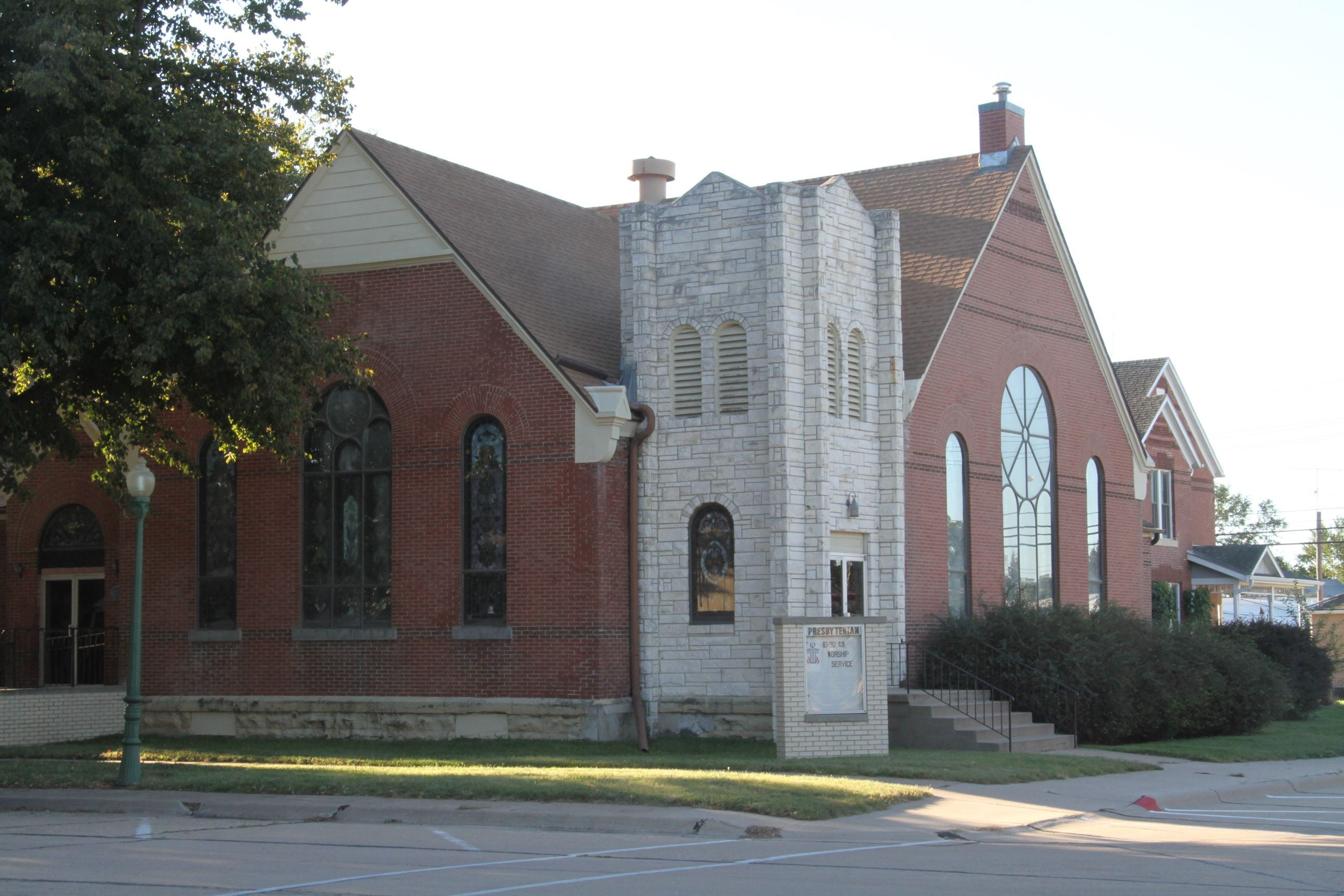 Presbyterian Church building on the corner