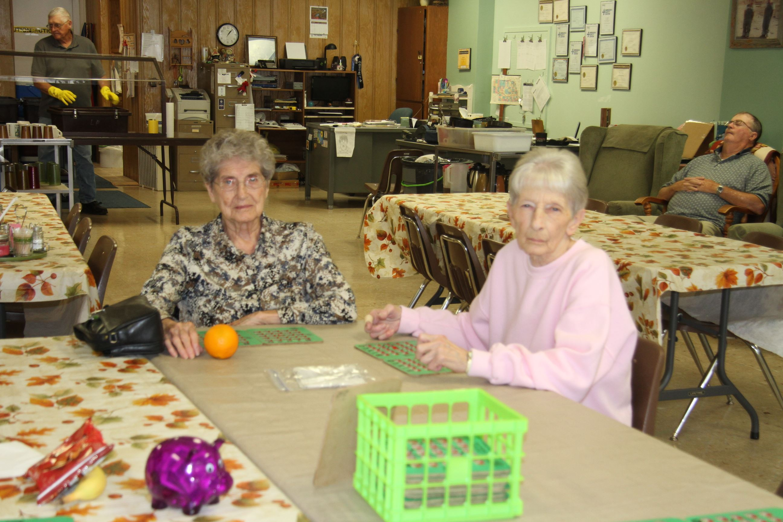 Individuals at the Senior Center