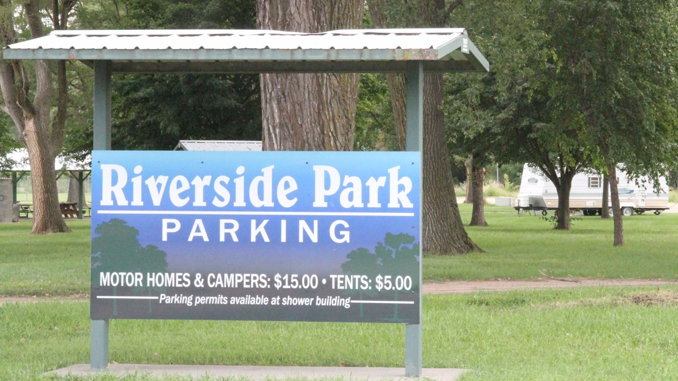 Riverside Park Parking Sign